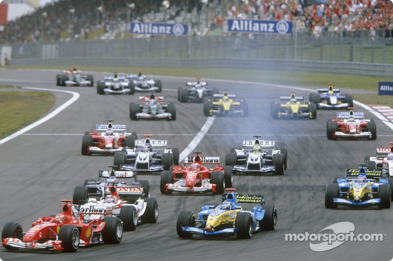 Start: Michael Schumacher ve field
