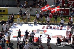 Tom Kristensen spread out after the victory