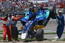 Felipe Massa's damaged car