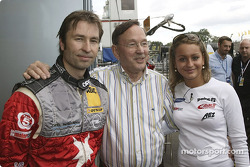 Heinz-Harald Frentzen mit seinem Vater und seiner Schwester Nicole-Nadine