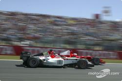 Takuma Sato and Rubens Barrichello