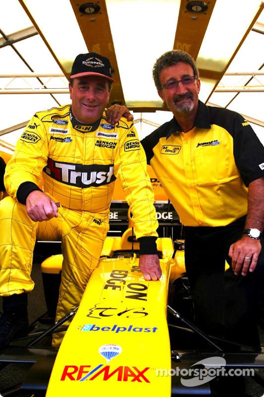 Nigel Mansell and Eddie Jordan
