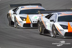 #5 and #6 Krohn-Barbour Racing Lamborghini Murcielago R-GT: David Brabham, Peter Kox,Tracy Krohn, Dave McEntee