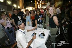 Autograph session for Manuel Reuter