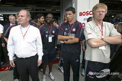 FC Bayern München players visits the DTM