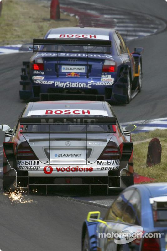 Mattias Ekström, Team Abt Sportsline, Audi A4 DTM 2004; Bernd Schneider, Team HWA, AMG-Mercedes C-Klasse 2004