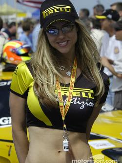 A Pirelli girl