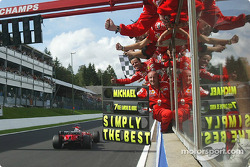 Second place finish and seventh World Championship for Michael Schumacher
