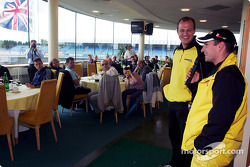 Timo Glock entertains guests at Jordan hospitality