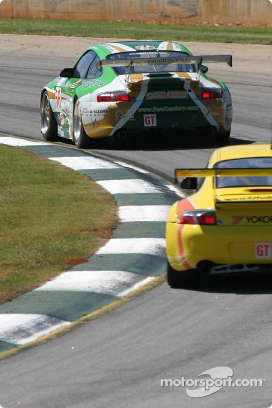 La Porsche 911 GT3 RSR n°66 The Racers Group : Patrick Long, Cort Wagner, Mike Rockenfeller