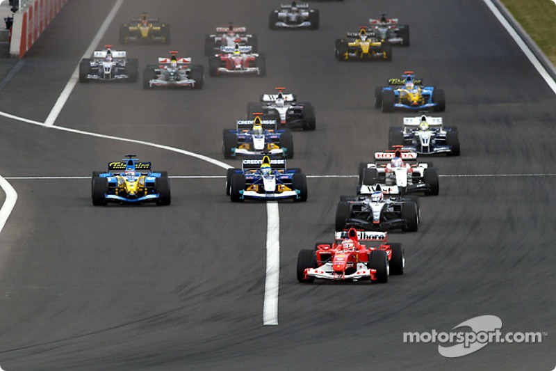 Départ : Rubens Barrichello prend la tête