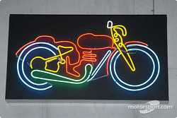 Neon motorcycle sign