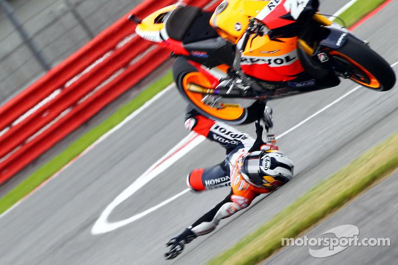 Dani Pedrosa, Repsol Honda Team crasht