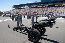 Large guns for pre-race ceremonies