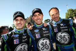 Marino Franchitti, David Brabham and Marco Werner