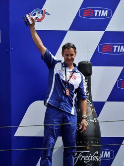 Podio: Wilco Zeelenberg, team manager di Jorge Lorenzo, Fiat Yamaha Team