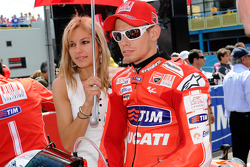Casey Stoner, Ducati Marlboro Team with this lovely wide Adriana