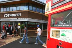 Karun Chandhok, Hispania Racing F1 Team and Bruno Senna, Hispania Racing F1 Team, visit of the Cosworth factory in Northhampton