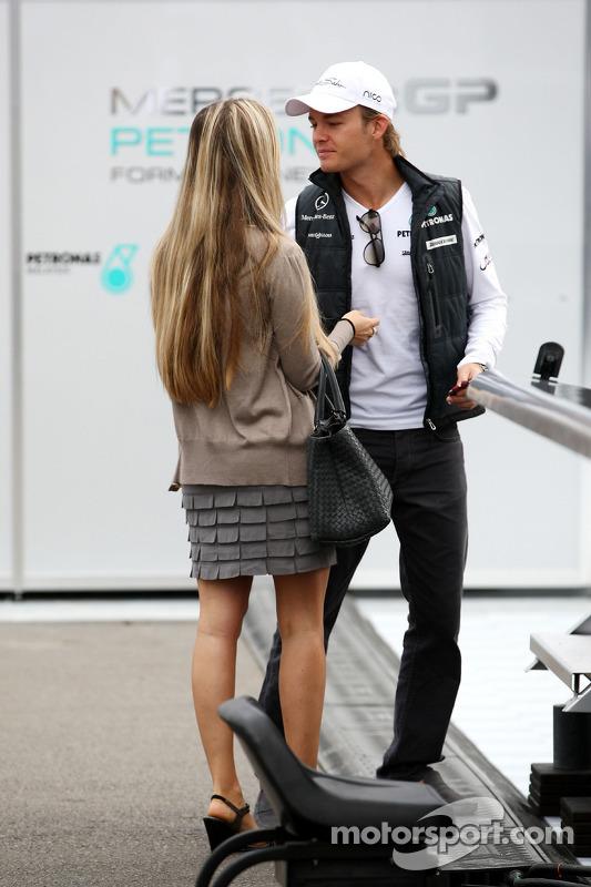 Nico Rosberg, Mercedes GP met vriendin Vivian Sibold