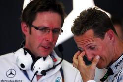 Andrew Shovlin, Mercedes GP, Senior Race Engineer to Michael Schumacher, Michael Schumacher, Mercedes GP