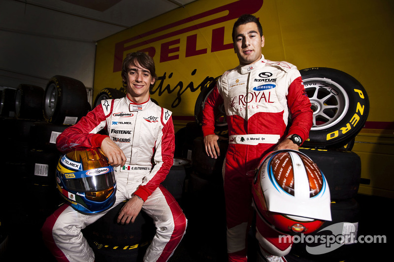 Daniel Morad en Esteban Gutierrez, winnaars van race 7 en 8 in de GP3 series op Silverstone