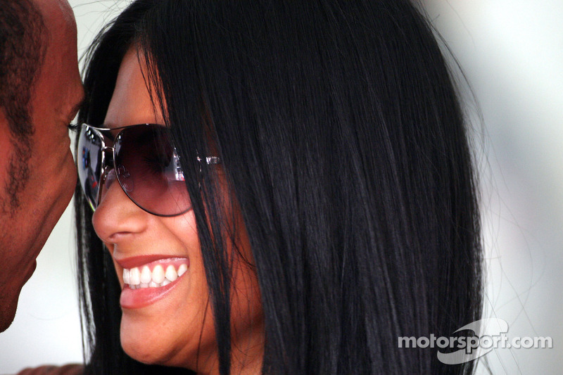 Lewis Hamilton, McLaren Mercedes, Nicole Scherzinger, Singer in the Pussycat Dolls and girlfriend of