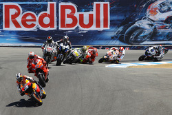 Dani Pedrosa, Repsol Honda Team, Casey Stoner, Ducati Marlboro Team y Jorge Lorenzo, Fiat Yamaha Team