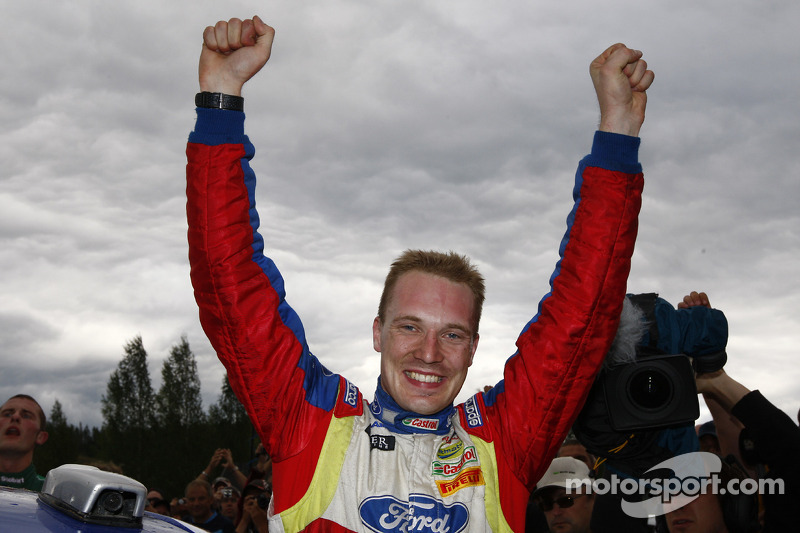 Rally winnaar Jari-Matti Latvala