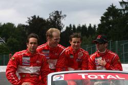 #23 BMS Scuderia Italia SPA Porsche 911 GT3 RS GT2: Romain Dumas, Jörg Bergmeister, Martin Ragginger, Wolf Henzler