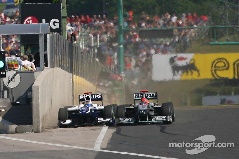 Duell mit Rubens Barrichello