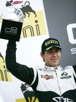 Robert Wickens on the podium