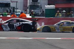 #12 Mad-Croc Racing Corvette Z06: Oliver Gavin, Pertti Kuismanen, #13 Phoenix Racing / auto'sport Corvette Z06: Marc Hennerici, Mike Hezemans