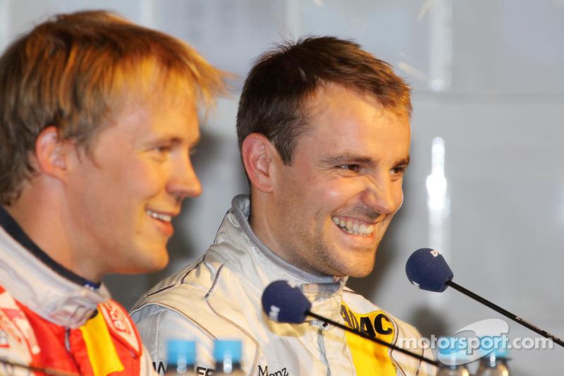 Persconferentie: polezitter Mattias Ekström, Audi Sport Team Abt, 3de Jamie Green, Persson Motorsport