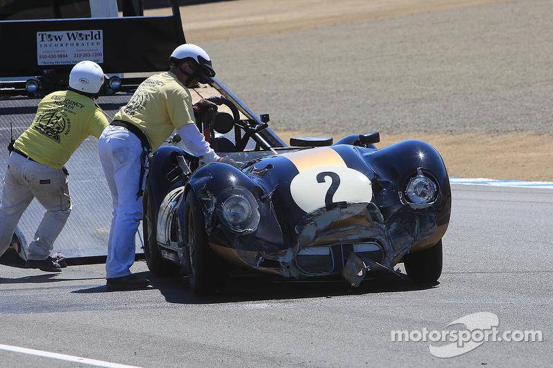 Schade voor Larry Bowman, 1958 Lister Corvette