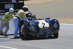 Crash damage for Larry Bowman, 1958 Lister Corvette