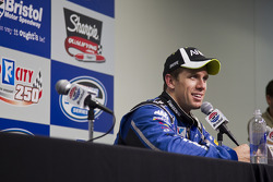 Carl Edwards, Roush Fenway Racing Ford speaks with the media