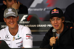 Michael Schumacher, Mercedes GP, Sebastian Vettel, Red Bull Racing