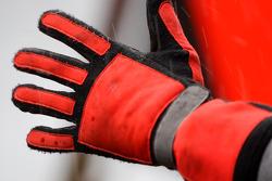 The glove of a mechanic