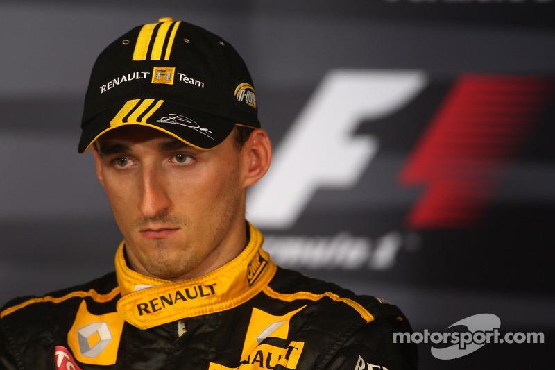 Persconferentie: 3de Robert Kubica, Renault F1 Team