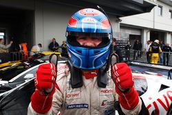 Race winner Tomas Enge celebrates
