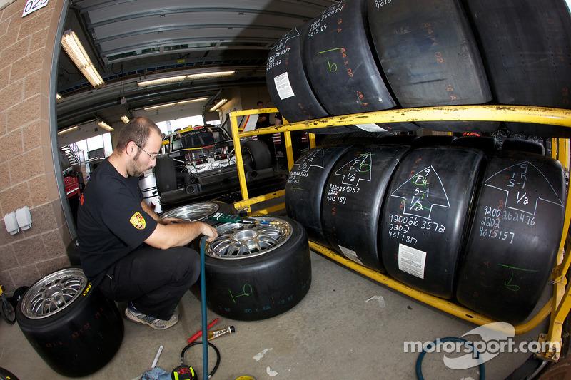 Préparation des pneus et des roues