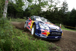 Kimi Raikkonen and Kaj Lindstrom, Citroën C4 WRC, Citroën Junior Team