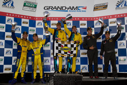 GS podium: class and overall winners Nick Longhi and Matt Plumb, second place Billy Johnson and Jack Roush, third place Joey Hand and Michael Marsal