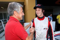 Benjamin Lariche celebrates his tweede plaats op de startopstelling for race 1