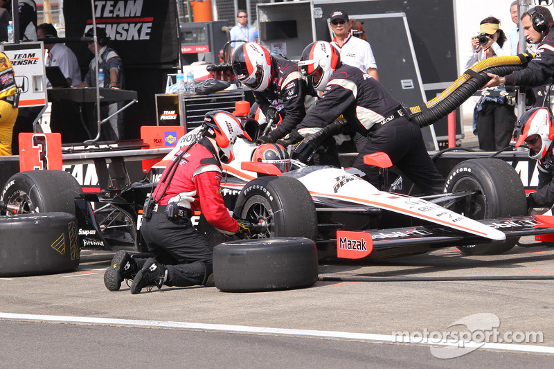 Pitstop Helio Castroneves, Team Penske