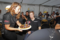 Dominik Schwager celebrates his birthday