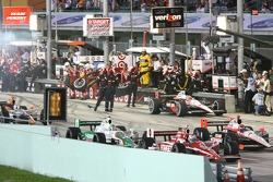 The field goes by Will Power, Team Penske