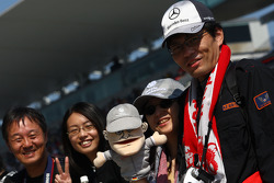Japanse fans, Michael Schumacher, Mercedes GP