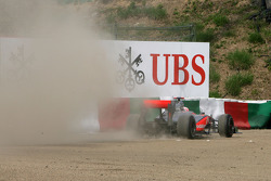 Jenson Button, McLaren Mercedes goes out of the track