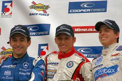 Carlos Huertas, Daniel McKenzie and Adriano Buzaid